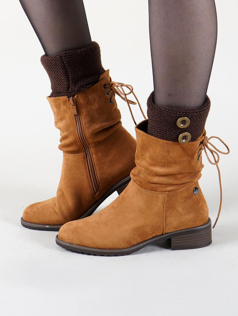 "Bottines ""Prasanna\"", Marron camel"