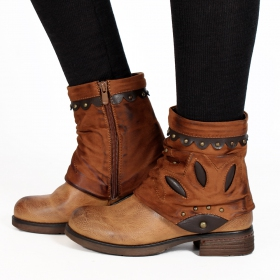 "Bottines ""Pyaara\"", Camel"
