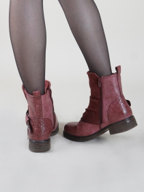 "Bottines ""Rajani\"", Bordeaux"