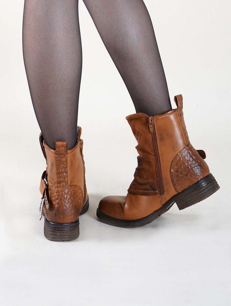 "Bottines ""Rajani\"", Marron camel"