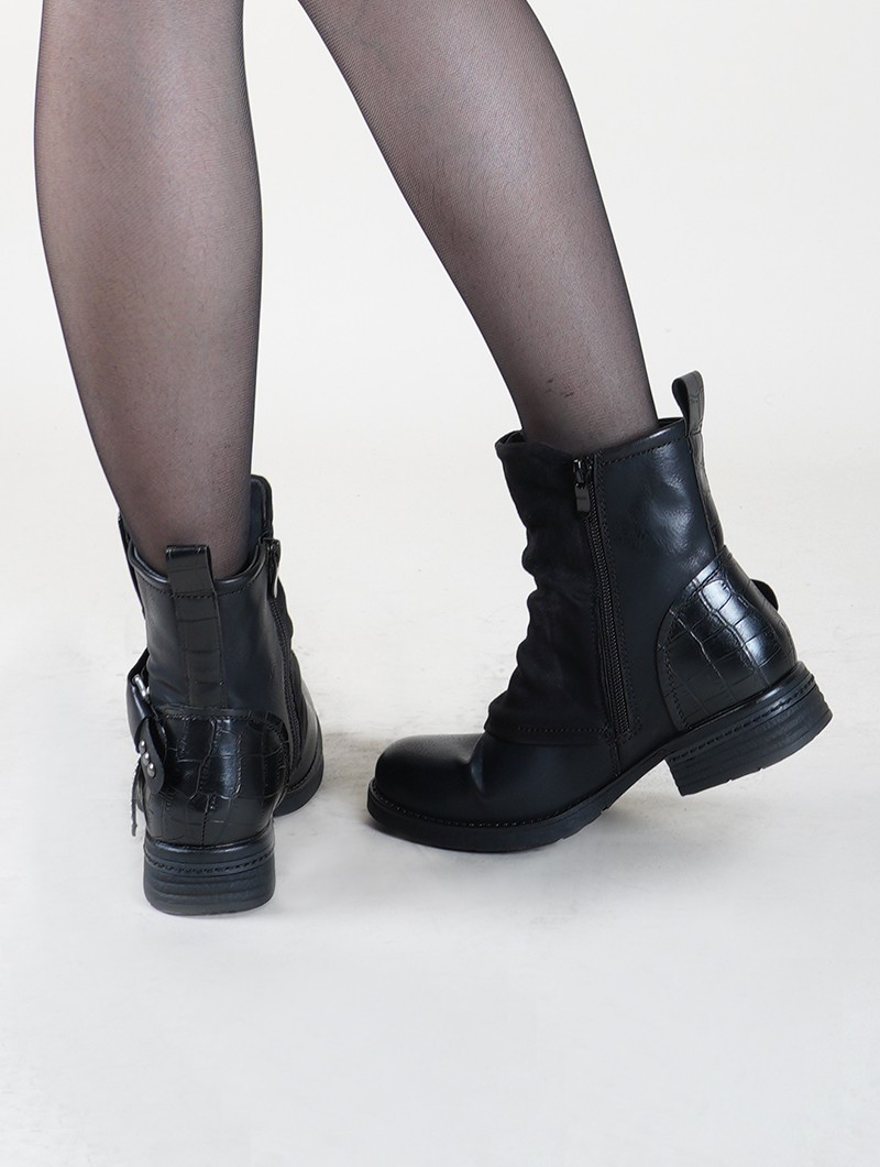 "Bottines ""Rajani\"", Noir"