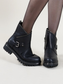 "Bottines ""Samudra\"", Noir"