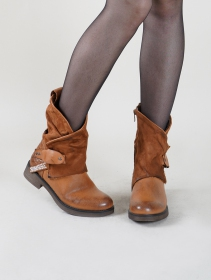 "Bottines ""Saryu\"", Marron camel"