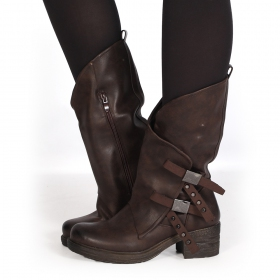 "Bottines ""Shakila\"", Marron"