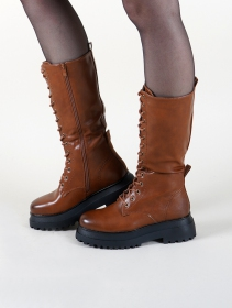 "Bottines ""Sharad\"", Marron camel"