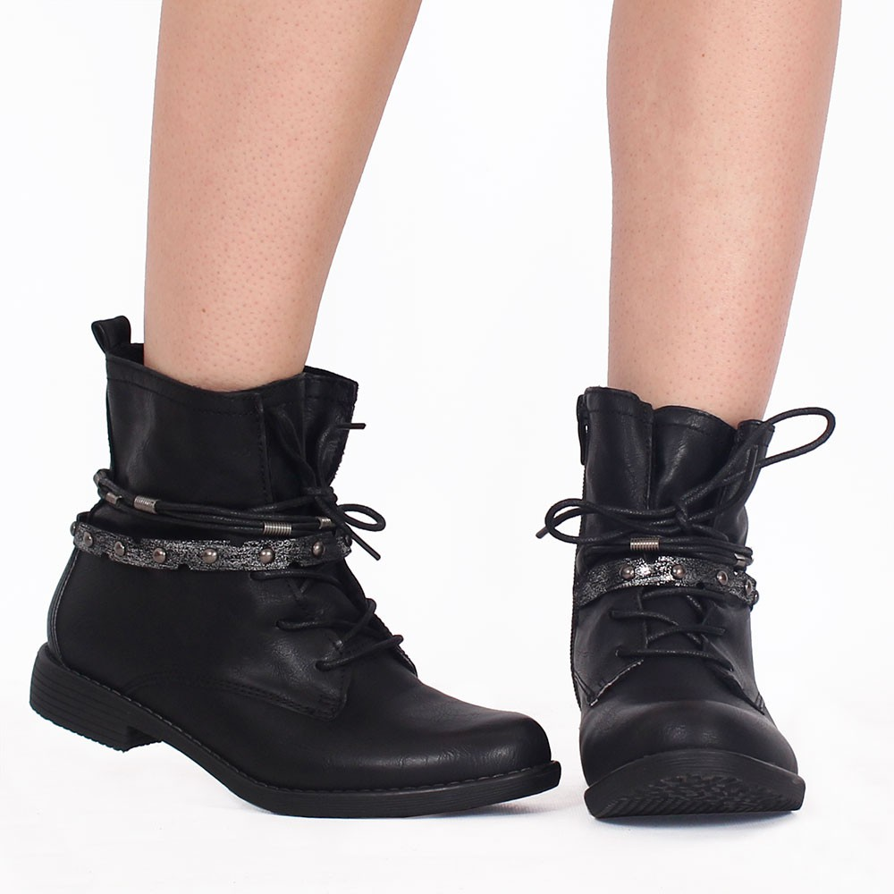 "Bottines ""Unyen\"", Noir"