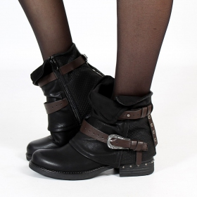 "Bottines \""Vayyan\\\"", Noir"