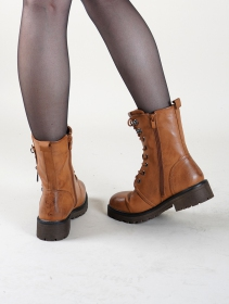 "Bottines ""Vijay\"", Marron camel"