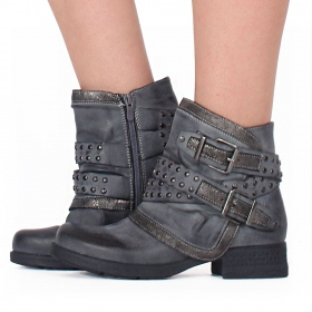 "Bottines ""Yara\"", Gris"