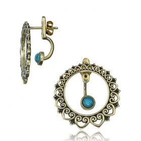 "Boucles d\'oreille ""Angha dayira Turquoise\"""
