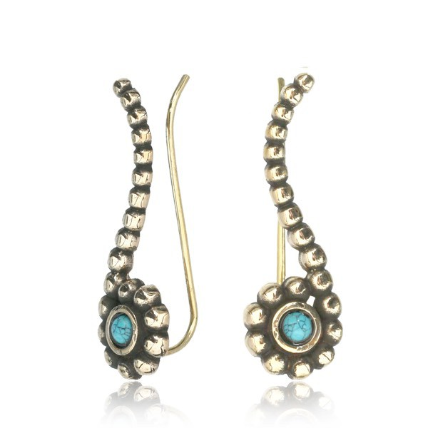 "Boucles d\'oreille ""Zilal Turquoise\"""