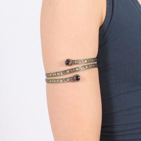 """Bracelet \""""Azmiya\"""", Pierre Amethyste"""