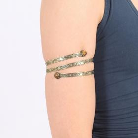 """Bracelet \""""Azmiya\"""", Pierre Oeil de tigre"""