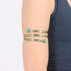 """Bracelet \""""Azmiya\"""", Pierre turquoise"""