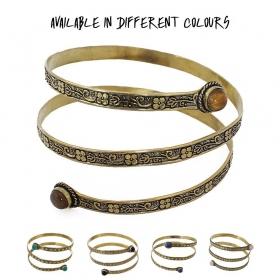 """Bracelet """"Azmiya"""", Pierre turquoise"""