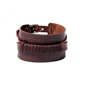 """Bracelet en cuir \""""Anshu\"""", Marron"""