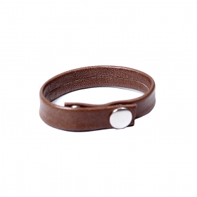 "Bracelet en cuir \""Raka\"", Marron"