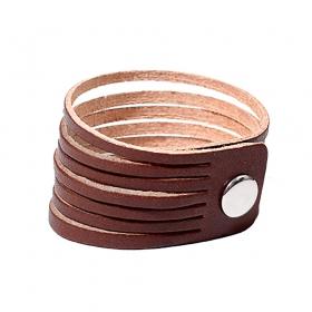 """Bracelet en cuir \""""Taar\"""", Marron clair"""