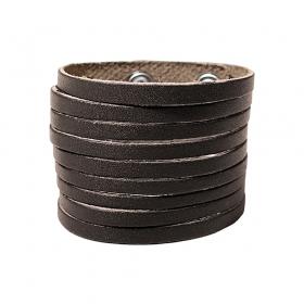 """Bracelet en cuir \""""Taar\"""", Marron foncé"""