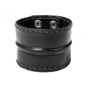 "Bracelet en cuir \""Ujjala\"", Noir"
