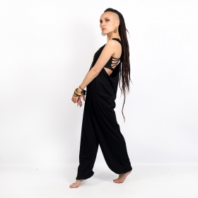 "Brassière \""Yoga Halo\"", Noir motif Chevron"