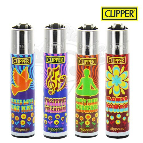 Briquet Clipper Hippie power