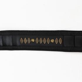 """Ceinture \""""Equilibrium\"""", Faux cuir noir"""