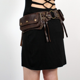 Ceinture poche \\\'\\\'Moulin Rouge\\\'\\\', Marron