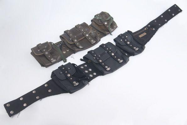 "Ceinture poche \\\""legion rmx\\\"",  noir ou kaki"