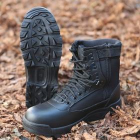 """Chaussure boots \""""Tactical Zipper\"""", Noir"""