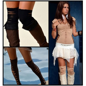 "Collants liloo \""moon\\\"", chocolat"