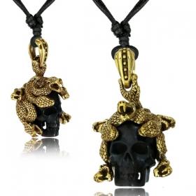 """Collier \""""Medusa Skull\"""""""