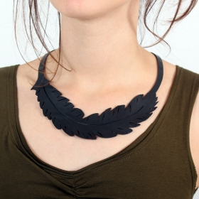 "Collier chambre à air \""Feather\\\"""