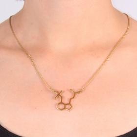 """Collier petit pendentif \""""Champignons Magiques\"""", Molécule Psilocybine"""