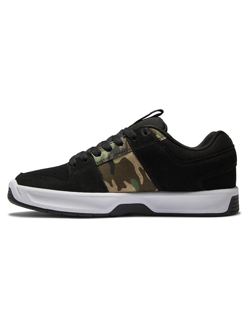 DC Shoes Lynx Zero, Cuir nubuck noir détails camo