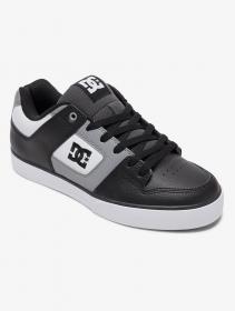 DC Shoes Pure, Cuir blanc, gris et noir