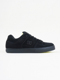 DC Shoes Pure, Cuir noir et citron