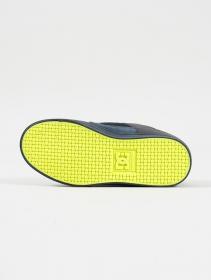 DC Shoes Pure, Cuir noir et citron vert