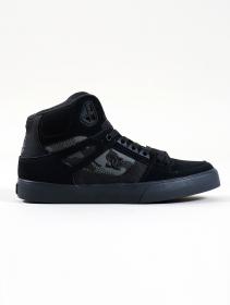 DC Shoes Pure High-Top WC, Cuir noir et camo