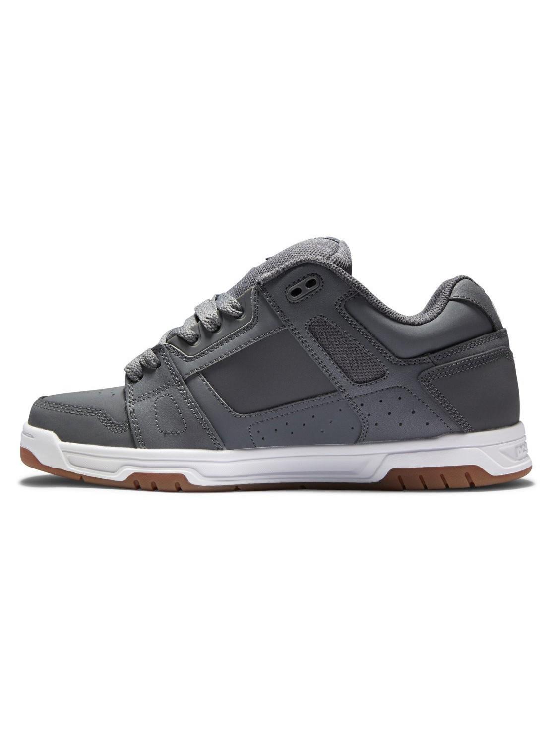 DC Shoes Stag, Cuir gris et noir