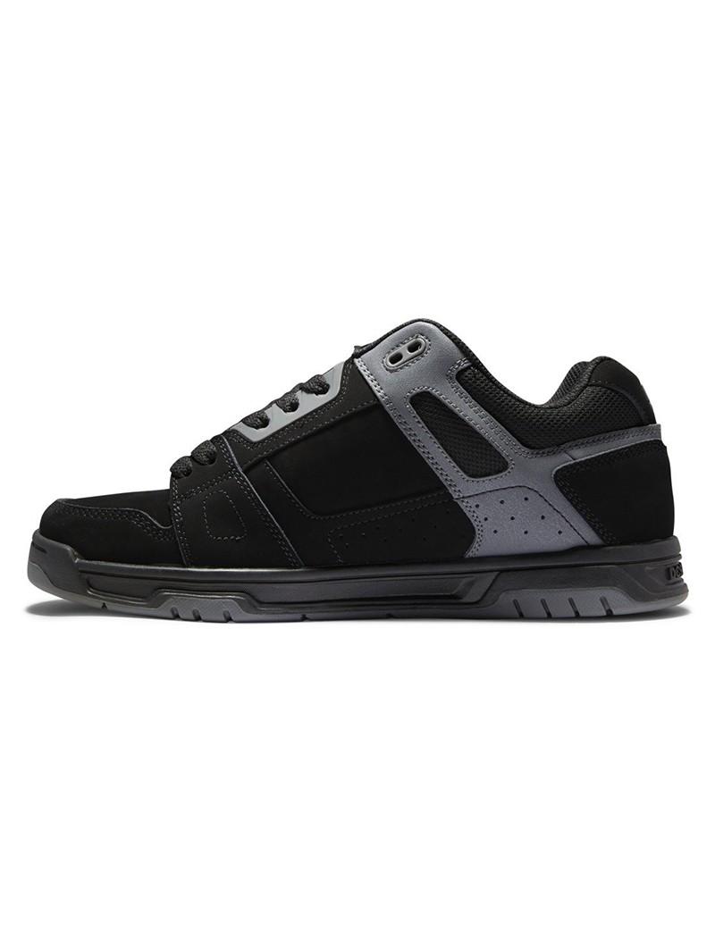 DC Shoes Stag, Cuir noir et détails gris