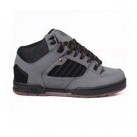 DVS Militia Boots, Cuir gris et détails noirs