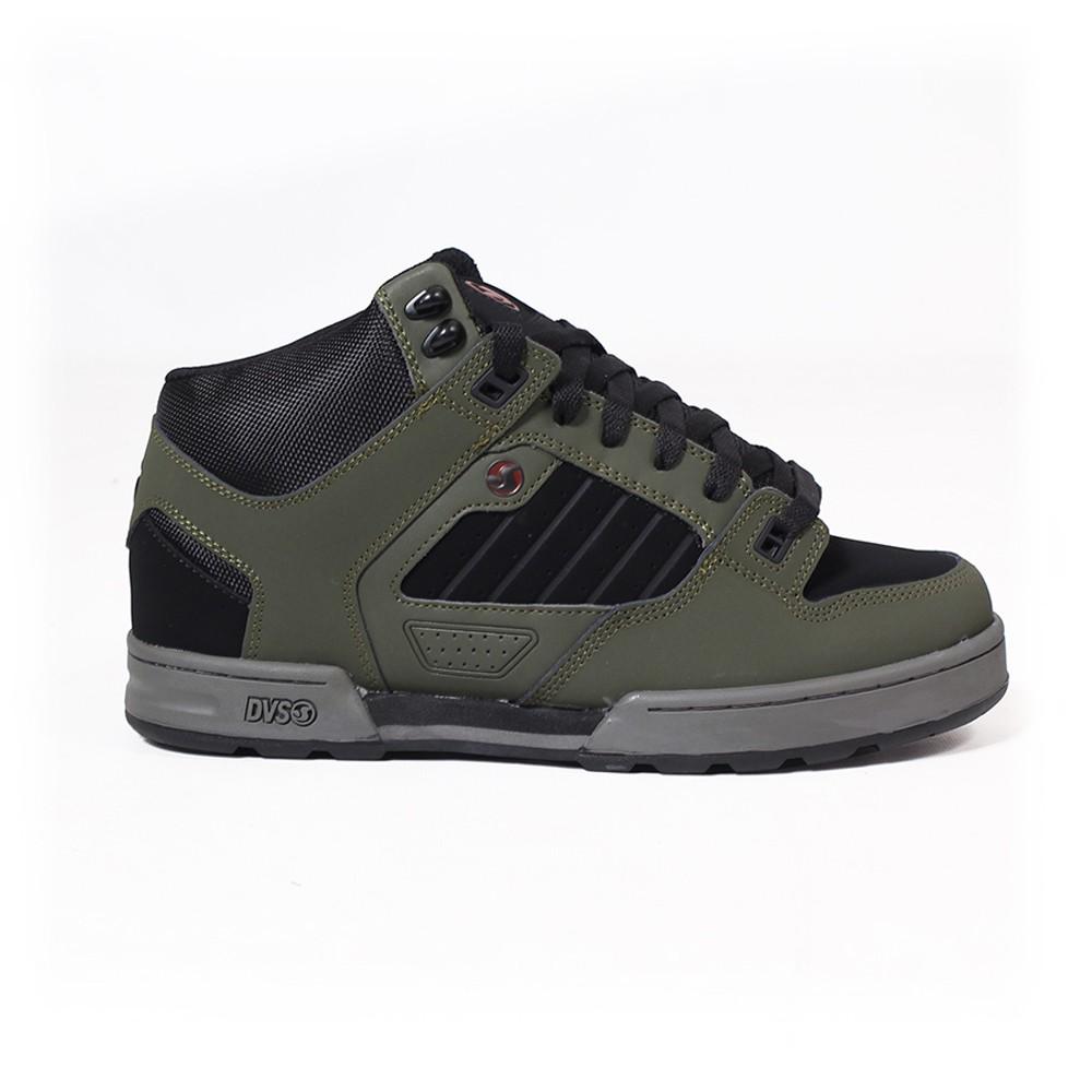 DVS Militia Boots, Cuir kaki et détails noirs