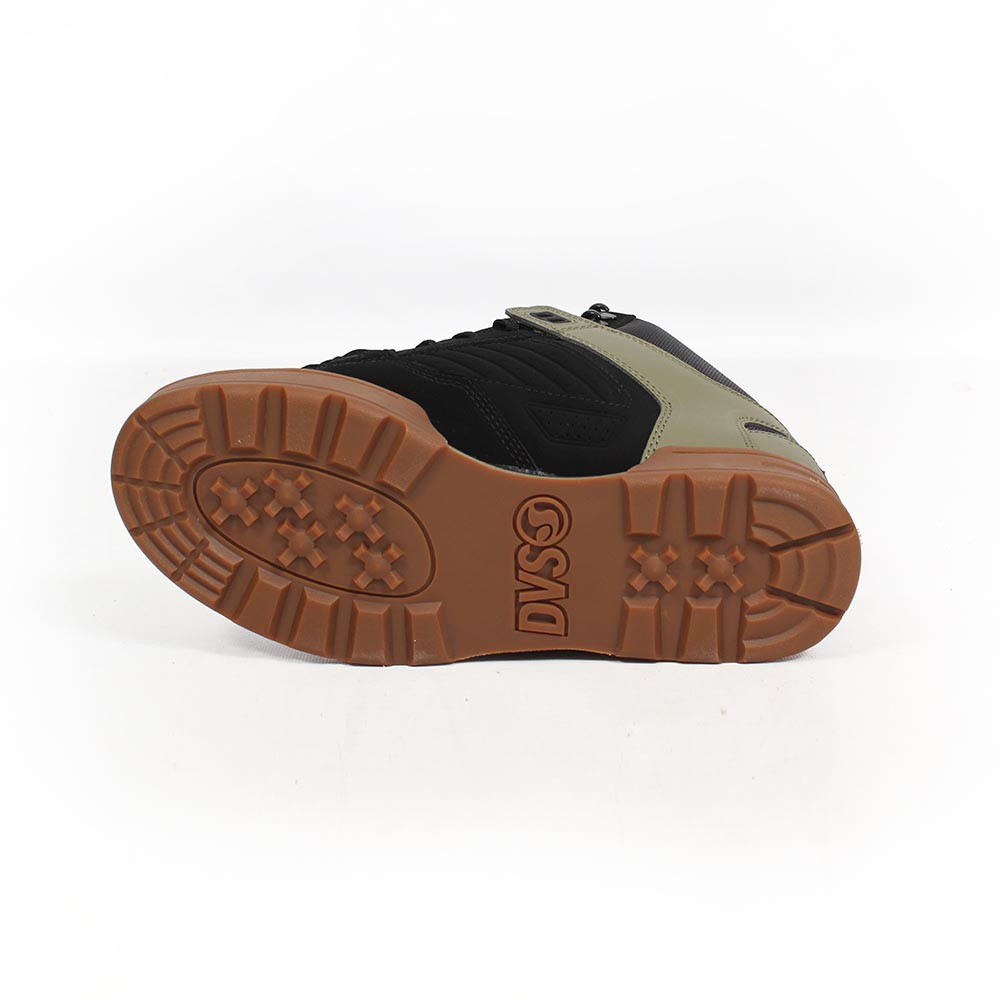 DVS Militia Boots, Cuir noir et détails kaki