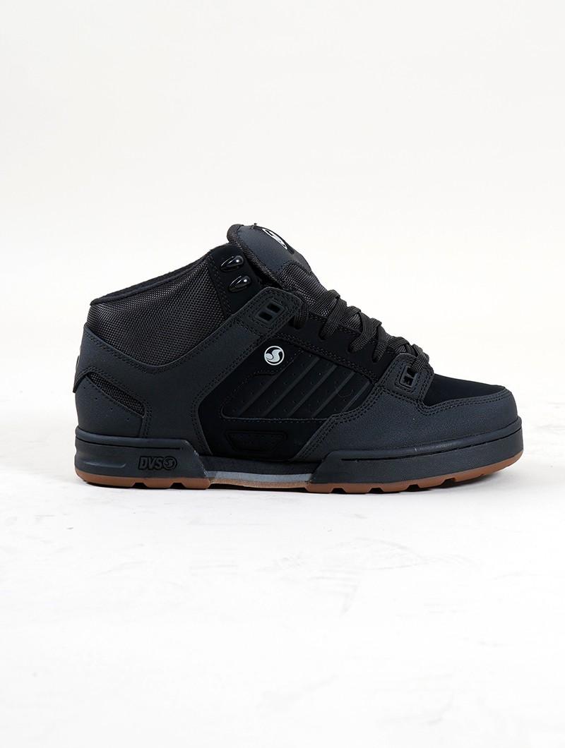 DVS Militia Boots, Cuir noir et détails noir