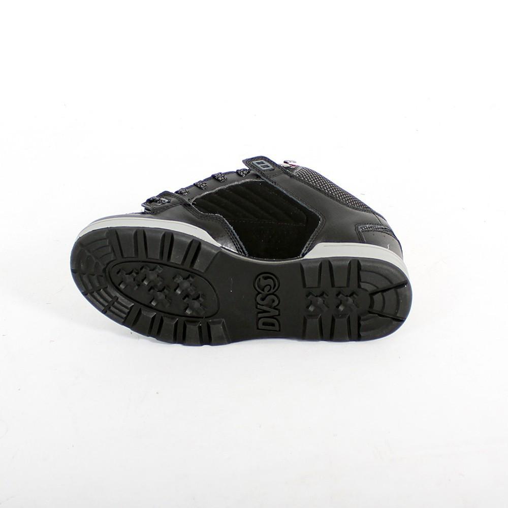 DVS Militia Boots, Cuir noir et intérieur motifs Tartan
