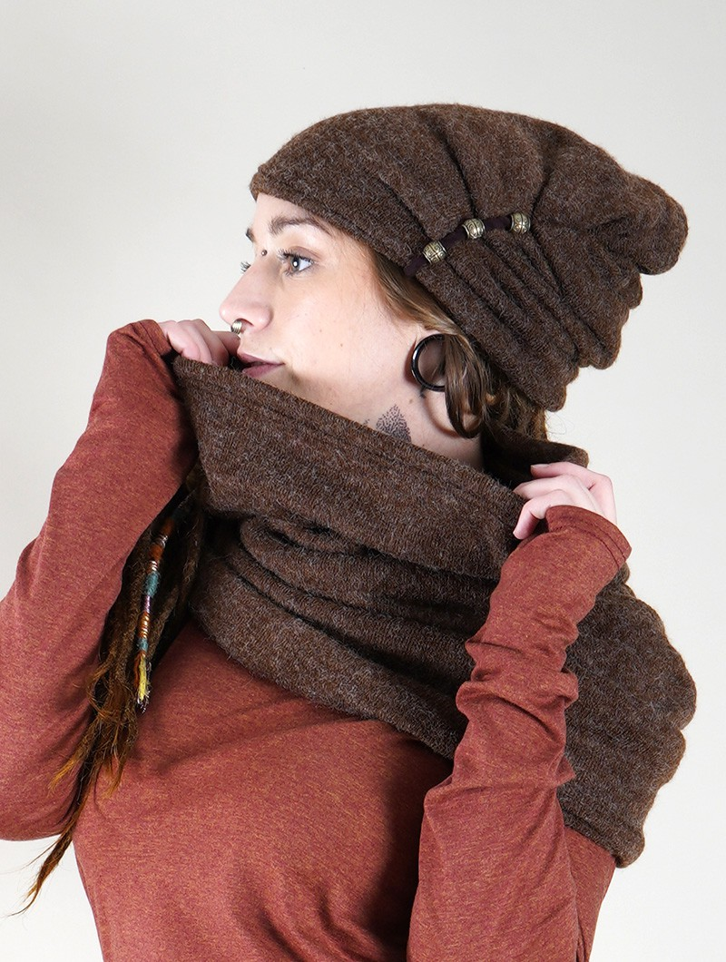 "Écharpe snood ""Oöna\"", Marron"