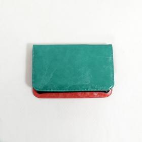 Grand porte-feuille aspect cuir \\\'\\\'Chameli\\\'\\\', Turquoise