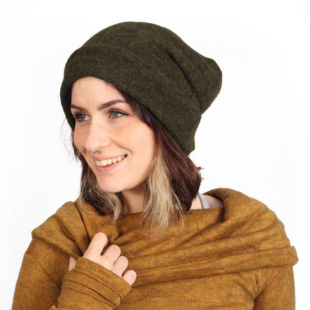 """Gros bonnet \""""Sükk\"""", Vert kaki"""
