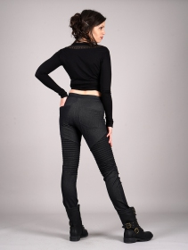 "Jegging long ""Lilith\"", Noir jean"